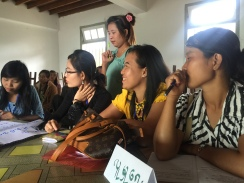KNWO staff and other participants discuss women's participation in social matters such as the peace process, at the 2016 Women Peace and Security Forum