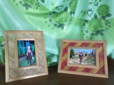 Bamboo photo frames made by students in KNWO's vocational training workshop