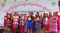 Kayah State citizens representing some of the state ethnicities, at the 2016 Karenni State Women's Voice Conference.