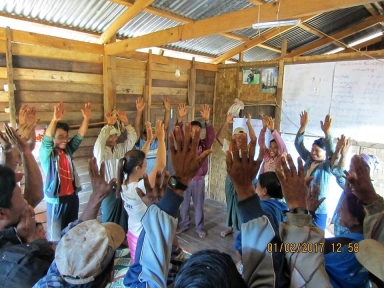 Active participation by villages in KNWO's Family Talk training